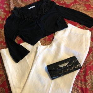 Ann Taylor pants, wallet, Maurices sweater